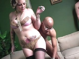 Tattooed Chick Candy Monroe Gets Her Raw Cunt Pounded Toughly