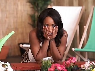 Jaw Ripping Off Black Cougar Kiki Minaj Shows Off Her Big Black Orbs