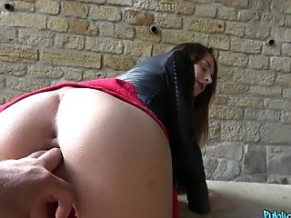 Adelle Unicorn Spreads Her Gams For The Best Spunk Ever With A Stranger