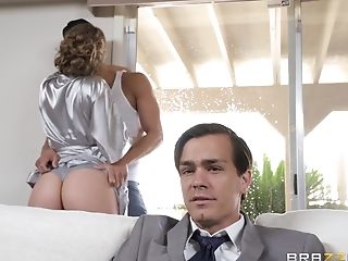 Cheating Wifey Lena Paul In Gonzo Fuckpole Railing Activity