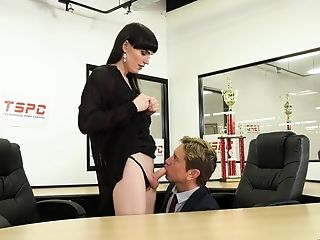 Horny Office Shemale Natalie Mars Wanna Nothing But Being Fucked Hard