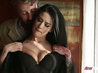 Black-haired Hoe Katrina Jade Having Her Pierced Gash Penetrated