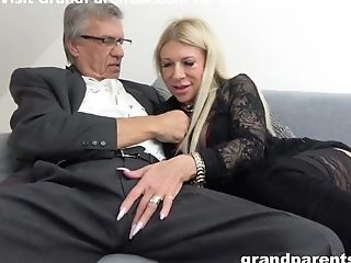 Blonde Teenage Dancer Gets To Fuck Old Dick