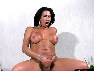 Matures Tranny Shows Immensely Big Tits And Strokes Monstercock