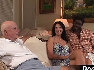 Milky Wifey Takes Milky Knob In Front Of Black Spouse