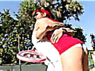 Rich Woman Penny Flame Rammed Hard By Her Tennis Coach