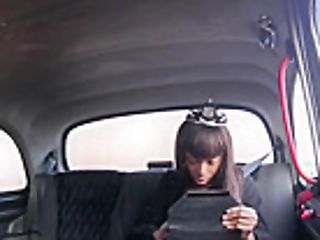 Gigantic Knockers Dark-hued Inhales Off And Drilled By Faux Driver