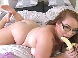 Bbw Georgina Gee Loves Giant Tits And A Banana