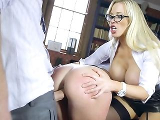 Huge-boobed Sandy-haired College Girl Gets Banged By A Suspended Stud