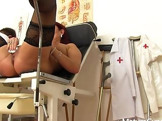 Spying For Matures Darina In The Gynecologist's Office