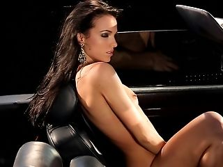 Trimmed Labia Solo Model Sapphira Enjoyments Her Cravings In A Car