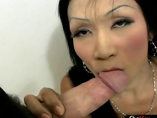 Diminutive Titted Tranny Is Doing Sexy Dancing Striptease