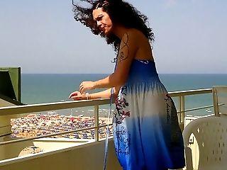 Nikki Transgender Princesses Blue Sundress Balkony