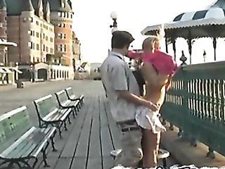Teenage Exhibitionist Fucked On A Public Street