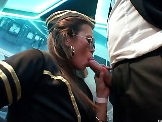 Stunning Stewardesses Sucking And Railing Dicks At The Nightclub
