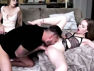 Exceptionally Mff Threesome With Voracious For Orgasm Slender Gals