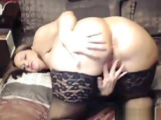 Fat Mummy In Stockings And High Stilettos