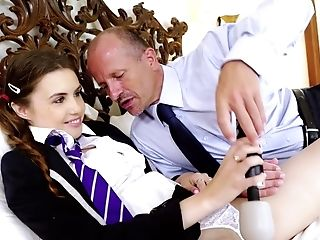 Youthful College Girl Attains The Best Pleasure During Bang-out With Teacher