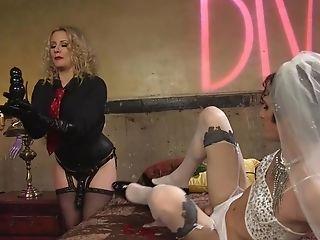 Feminized Bride Butt Fucking Toyed By Mistress