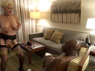 Super-naughty Brief Haired Granny Wants Big Black Dick