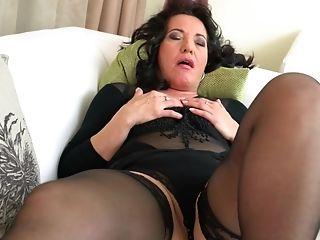Buxom Matures Cougar In Silky Underwear Isadora M. Masturbates