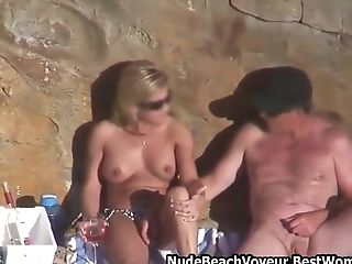 Horny Duo Love Fuck Naked On The Beach