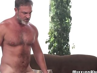 Hot amateur elder hunk annointed in cum