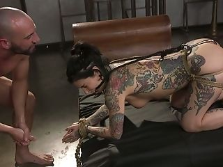 Tattooed Pornography Model Joanna Angel Is Tied Up And Creampied By One Exotic Pervert