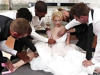 Blondie Hair Honey Bride Group Bondage & Discipline In A Fantasy