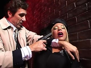Leathered Up Romana Ryder Is Coerced To Suck His Dick