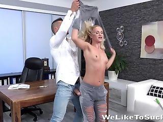 Nice Platinum-blonde Stunner Eveline Neill Is Fucked By Tattooed Stellar Beau