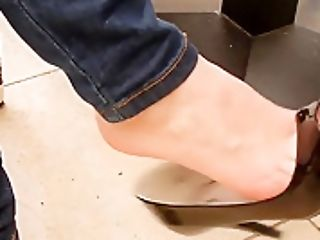 Gfs Shoeplay Dangle Peeptoe Stilettos Undertable