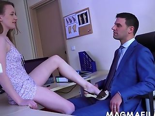 Playful Gf Emma Fantasy Turns Man On With Chisel Jerking Workout