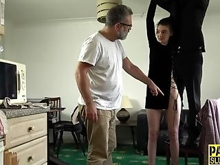 Skinny Enslaved Nubile With Smallish Tits