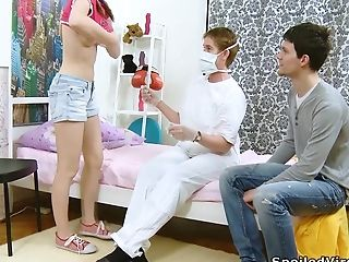 Bf Fucks Legal Yo Cherry Gf Katia In Front Of Gynecologist