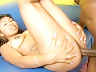 Sexy Malaysia Blue Fucks A Black Pole And Indulges In Intense Orgasms