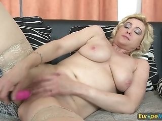 Matures Euro Housewife Is Playing With Her Beloved Fuck-fest Fucktoy