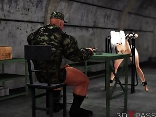 Very First Time Hard Fuck For Horny Japanese School Lady Servant In The Military Base Camp