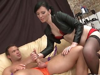 Sexy Dark Haired Peter Stallion Said That She Gives The Best Blow-job