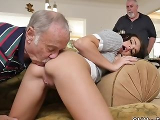 Old Man Plays With Legal-year-olds Cunt And Nasty Fucks Guys