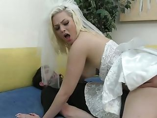 Non-traditional Best Man Fucks Sex-positive Bride Jenna Ivory In Front Of Tied Up Groom