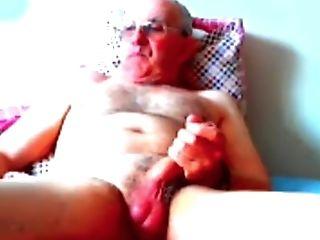 Grandfather Jizz On Web Cam