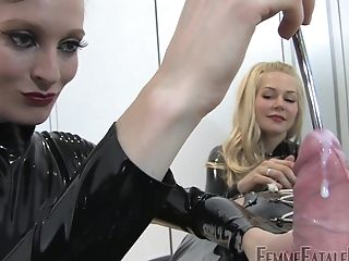 These Two Ladies Are Experienced Mistresses And Look So Hot Penalizing A Dude