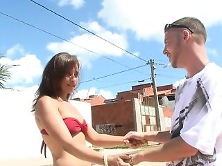 After Walk Brazilian Chick Wants To Suck Stud's Fuckstick