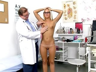 Fat Doc Checks All Alluring Assets Of Youthfull Suntanned Blonde