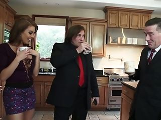 Sexy Biotch Britney Amber Is Having Some Joy With A Rich Man In The Kitchen