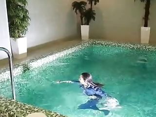 Jeans Doll In Pool