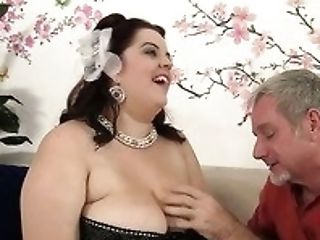 Weighing Tons Big-boobed Black Head Buxom Bella Rails Stiff Dick On Top