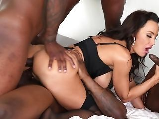Interracial Group Sex With Dual Foray Makes Lisa Ann Glad