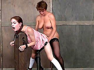 Pretty Pink Sundress On A Redheaded Teenage Hump Servant Taking Dick